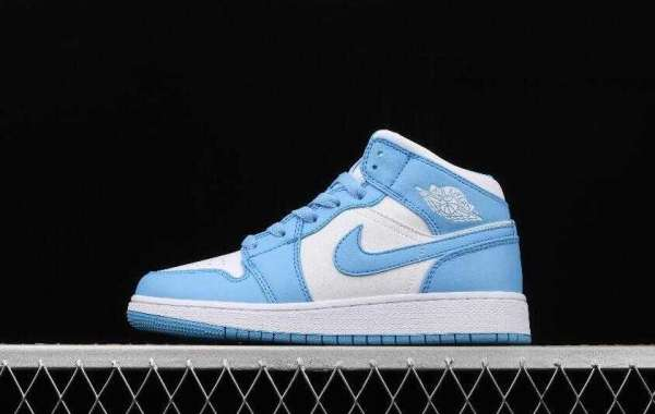 New Air Jordan 1 Mid North Carolina Blue White is Awesome Footwear