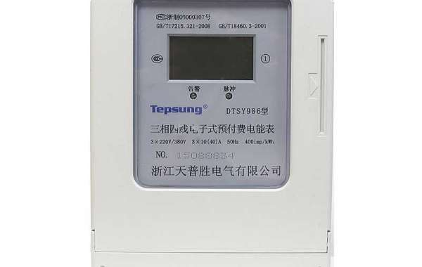 What is the function of three phase prepaid kwh meter?