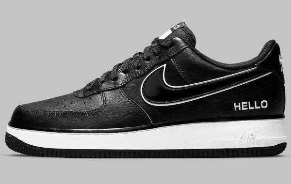"""2021 Nike Air Force 1 Low """"Name Tag"""" Appears In Black And White"""