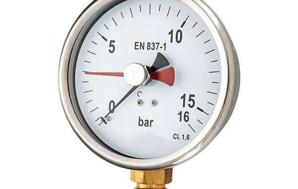 Silicone Filled Pressure Gauge Has High Durability