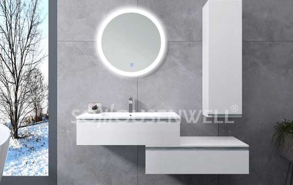 Teach you how to clean the bathroom led mirror cabinets