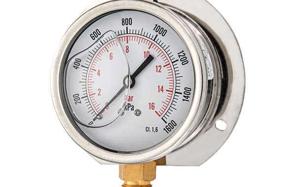 Glycerine Filled Pressure Gauge Is A Key Component Of Most Processing Systems